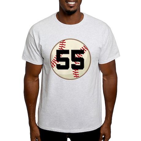 Baseball Player Number 55 Team Light T-Shirt