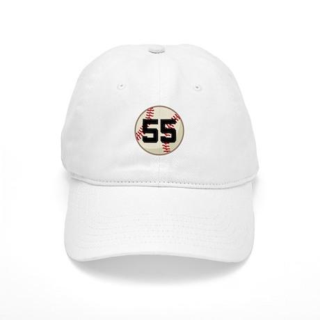 Baseball Player Number 55 Team Cap