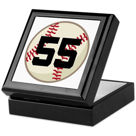 Baseball Player Number 55 Team Keepsake Box