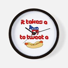 It Takes a Jackass To Tweet A Weiner Wall Clock