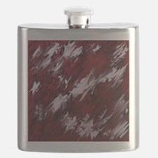 Unique Red abstract art Flask