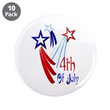 """4th Of JULY 3.5"""" Button (10 pack)"""