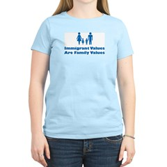 Immigrant Values Women's Pink T-Shirt