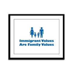Immigrant Values Framed Panel Print