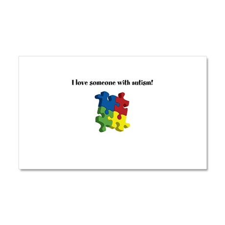 I Love Someone With Autism Car Magnet 12 x 20