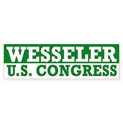 Scott Wesseler for Congress bumper sticker
