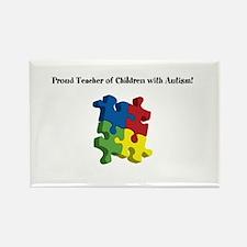 Proud Teacher of Children wit Rectangle Magnet