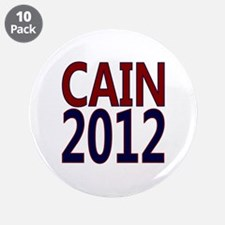 """Herman Cain 2012 3.5"""" Button (10 pack)"""