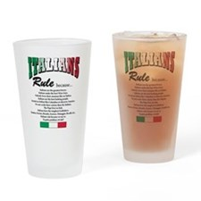 Italians Rules Pint Glass
