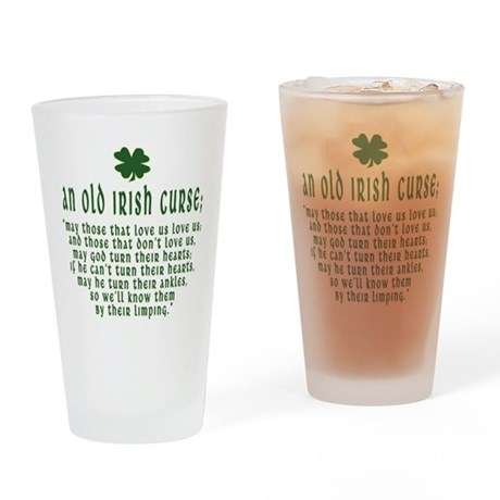 An Old irish curse Pint Glass
