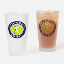 Girls Softball Pint Glass