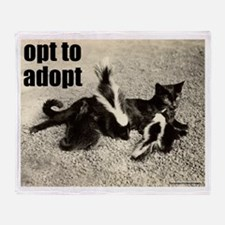 Opt To Adopt Cat Throw Blanket