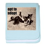 Opt To Adopt Cat baby blanket