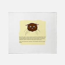 The Cat's Diary Throw Blanket