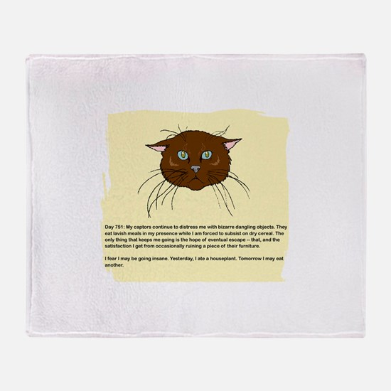 The Cat's Diary Throw Blanket