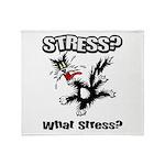 Stressed Cat Throw Blanket