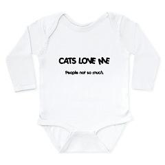 Cats Love Me Long Sleeve Infant Bodysuit