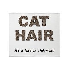 Cat Hair Fashion Throw Blanket