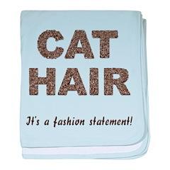 Cat Hair Fashion baby blanket