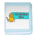 Cat Spoken Here baby blanket