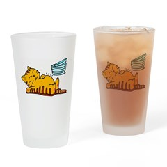 Funny Fat Cat Pint Glass