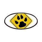 Cat Crossing Sign Patches