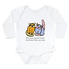 I Like My Cat Long Sleeve Infant Bodysuit