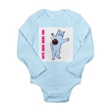 Cats Have More Fun Long Sleeve Infant Bodysuit