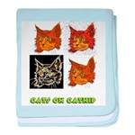 Cats On Catnip baby blanket