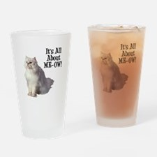 Meow Persian Cat Drinking Glass