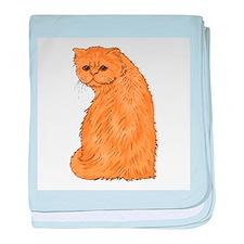Red Persian Cat baby blanket