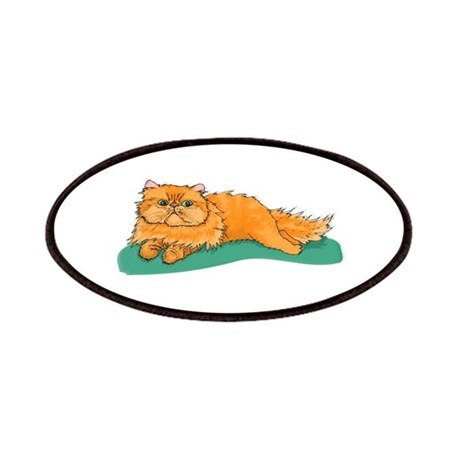 Red Persian Cat Portrait Patches