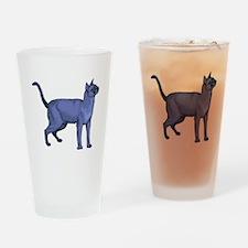 Russian Blue Cat Portrait Pint Glass