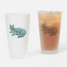 Russian Blue Cat Pint Glass