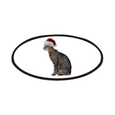 Savannah Cat Christmas Patches