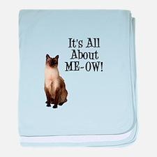 ME-OW Siamese Cat baby blanket