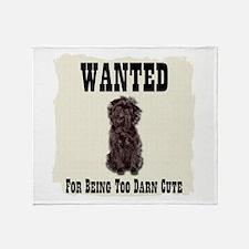Affenpinscher Wanted Poster Throw Blanket