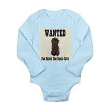 Affenpinscher Wanted Poster Long Sleeve Infant Bod