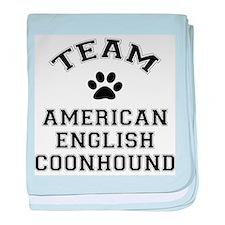 Team Coonhound baby blanket