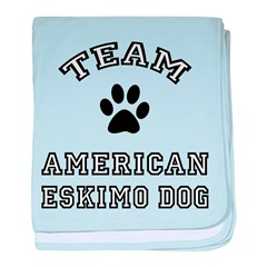 Team American Eskimo Dog baby blanket