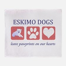 Eskimo Dog Lover Throw Blanket