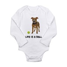 Pit Bull Life Long Sleeve Infant Bodysuit