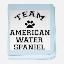 Team Water Spaniel baby blanket