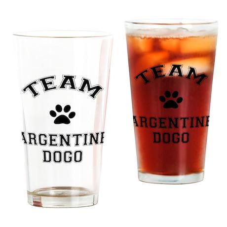 Team Argentine Dogo Drinking Glass