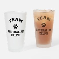 Team Australian Kelpie Drinking Glass