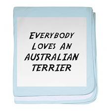 Australian Terrier baby blanket