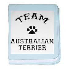 Team Australian Terrier baby blanket