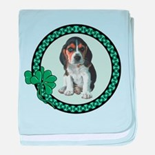 Irish Beagle baby blanket