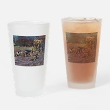 Beagle Art Pint Glass