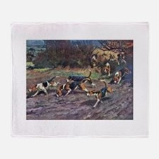 Beagle Art Throw Blanket